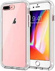 JETech Case for iPhone 8 Plus and iPhone 7 Plus, Shock-Absorption Bumper Cover, Anti-Scratch Clear Back, HD Clear