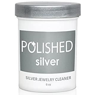 Polished Silver Jewelry Cleaner, Professional Jewelry Cleaning in 1-Minute! Silver Cleaning Solution + Dip Tray | Premium Silver Polish for Tarnish Removal, Made in USA, Best Sterling Silver Cleaner