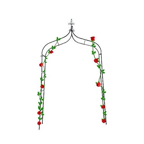 "Mr.Garden Plant Support Top Pointed Trellis H 94.5""x W 55.2'' x Thickness 14.96'' Beautiful Flower Trellis for Wedding Dark Green Color by Mr Garden"