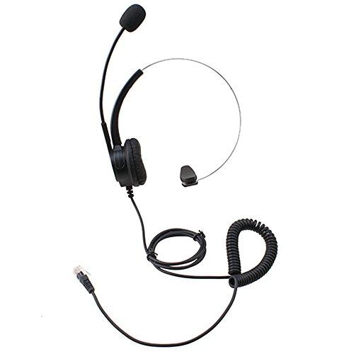 AGPtek® 4-pin RJ9 Crystal Head Super Telephone Monaural Cor