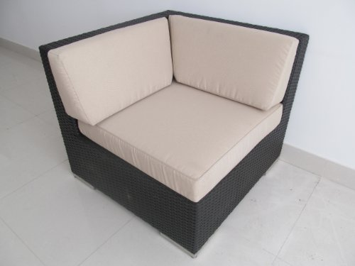 Ohana Patio Wicker Sofa Set 7 Pieces - Beige