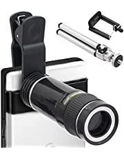 YACSEJAO HD 20X Zoom Lens with Tripod Telephoto Mobile Phone Lens Telescope for Smartphones and Tablet PC