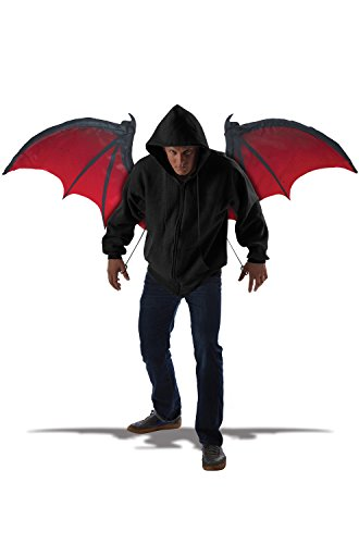 Halloween Wings - California Costumes Men's Bloodnight Wings, Red/Black, One Size