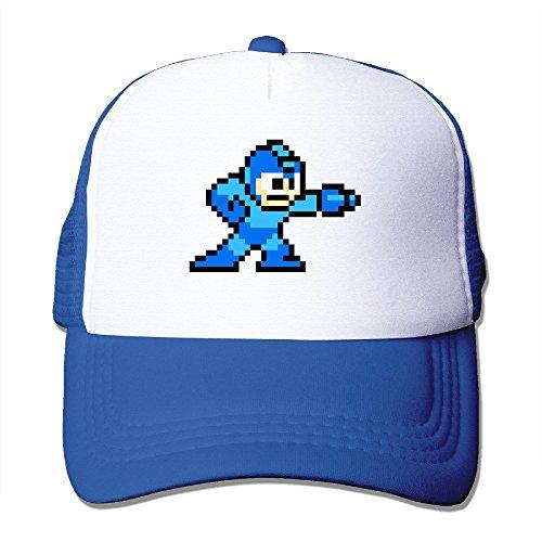 [Cool Mega Man Trucker Cap Baseball Hat (5 Colors) RoyalBlue] (Megaman Hat)