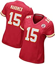 Mahomes 15# Rugby Jersey, Women American Football Jersey T-Shirt, Fans Sportswear Training Clothing, Red