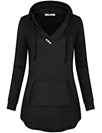 Women's Cowl Neck Casual Long Sleeve Hoodie Pullover...