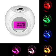 YJYdada Wake Up Light Clock For Kids Child Toddler Adults 7 Colors Changing Alarm Clock
