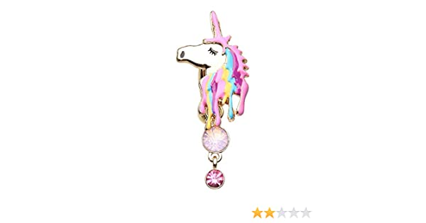 WildKlass Jewelry Adorable Unicorn 316L Surgical Steel Belly Button Ring