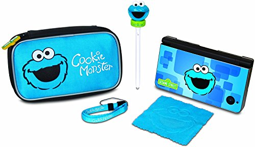 dreamGEAR Sesame Street 5-in-1 Starter Kit for Nintendo DSi XL, DSi and DS Lite (Cookie Monster)