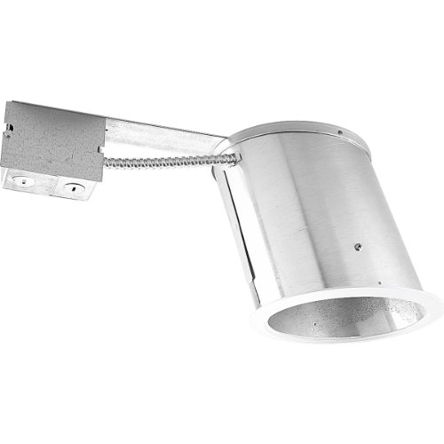 Integral Flange - Progress Lighting P745-IC 6-Inch Slope Remodel Housing for Incandescent That Adjusts Lamp from 9 to 45 Degrees 1 Trim Style for All Ceiling Angles and Integral Cast Trim Flange Ring