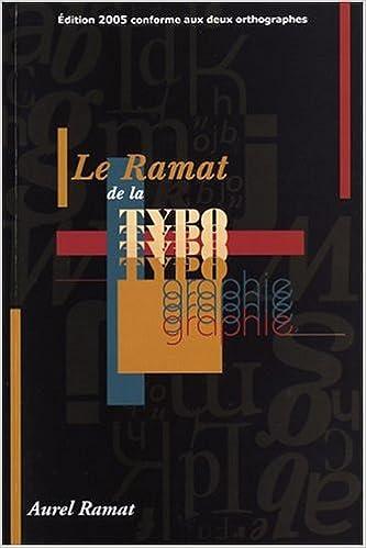 En ligne Le Ramat de la typographie pdf