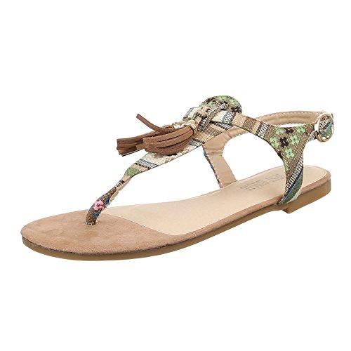 Ital-Design - Zapatos con tacón Mujer Beige Camel