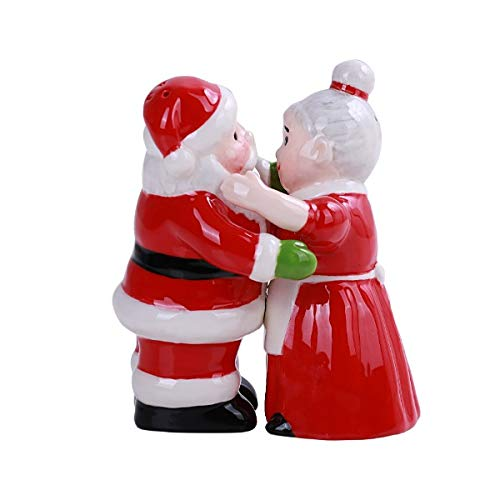 Santa and Mrs Claus Hugging Salt and Pepper Shakers