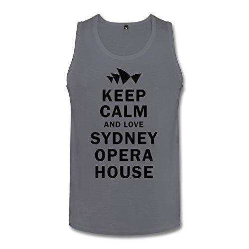 PNHK Men's Keep Calm And Love Sydney Opera House Tank Top XX-Large Deep