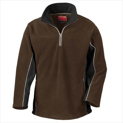 Result - Tech3 1/4 Zip Fleecepullover Sport XL,Coffee/Black