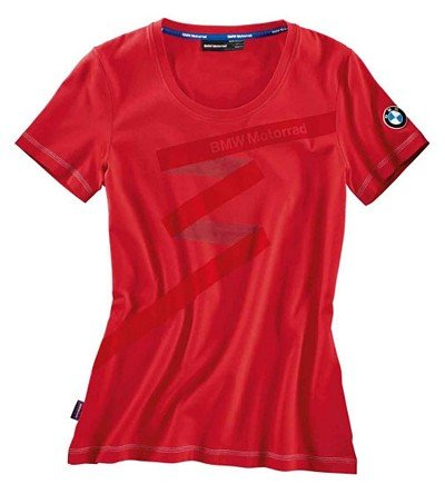 BMW Genuine Motorcycle Riding Bmw Logo Women'S T-Shirt Tee M Medium Red