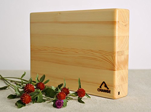 Larch Wood Yoga Block by MadeHeart | Buy handmade goods