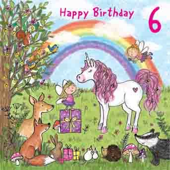 Twizler Geburtstagskarte Zum Sechsten Geburtstag Fuumlr Mauml