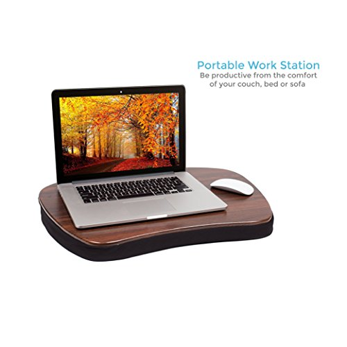 Sofia + Sam Oversized Memory Foam Lap Desk (Black) - Supports Laptops Up to 20 Inches