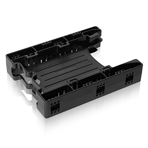 ICY DOCK Tool-less Dual 2.5 to 3.5 HDD Drive Bay SSD Mounting/Kit/Bracket/Adapter - EZ-Fit Lite MB290SP-B (1x Unit Package)