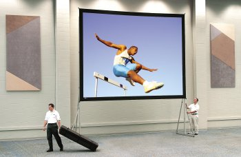 Da-Tex Fast Fold Heavy Duty Deluxe Complete Rear Projection Screen - 6' x 8' Size: 18' x 24'