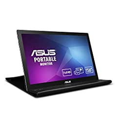 """The World's slimmest and lightest 15.6"""" Full HD IPS panel USB powered MB169B+ Portable Monitor with a single USB 3.0 cable for power and data transmission. MB169B+ features EzLink technology and Auto rotating display bundled with the ASUS Sma..."""