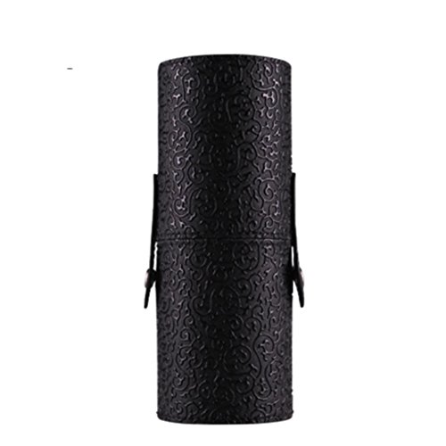 [Hatop Leather Cosmetic Case Portable Storage Makeup Bags Organizer Brush Holder Cup (Black)] (Replica Makeup)