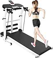 Folding Mechanical Treadmill,Shock Absorption and Incline Powerful & Quiet , Manual Walking Treadmill with