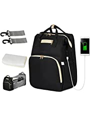 TIBES Diaper Backpack Multi-purpose Nappy Bag with USB Charging Mommy Backpack