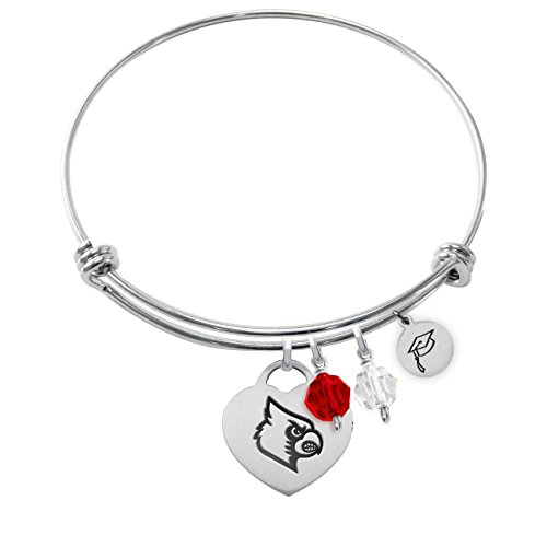 University of Louisville Cardinals Adjustable GRADUATION Bracelet With Heart Charm