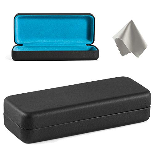 Glasses Case Hard Shell – Protective Case for Glasses Sunglasses Holder With Cleaning Cloth