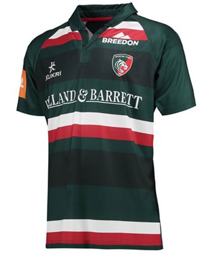 - 2017-2018 Leicester Tigers Home Rugby Shirt (Kids)