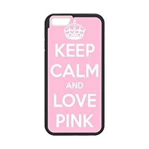 Diy Keep Calm and Love Pink Custom for iphone 6 (4.7 inch) Black Shell Phone Cover Case LIULAOSHI(TM) [Pattern-1] by mcsharks