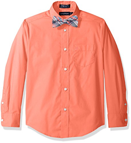 Nautica Boys Sleeve Solid Shirt