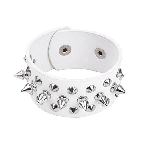 Leather Spike Stud Bracelet (Premium Spike Studded PU Leather Bracelet 9