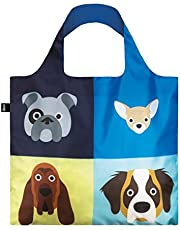LOQI Artist Stephen Cheetham Dogs Shopping Reusable Grocery Bag, One Size