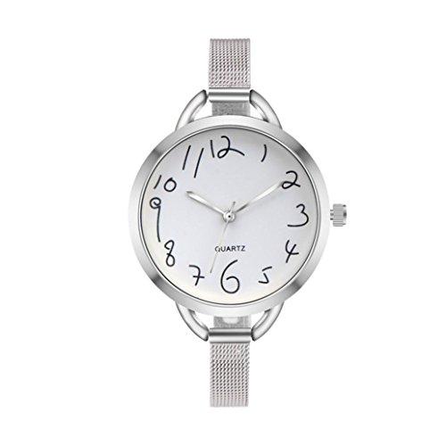 Clearance!!! Women's Watches, Jushye Fashion Women Casual Crystal Stainless Steel Analog Pointer Quartz Wrist Watch Bracelet (C) (Pointer Wrist Woman Watch)