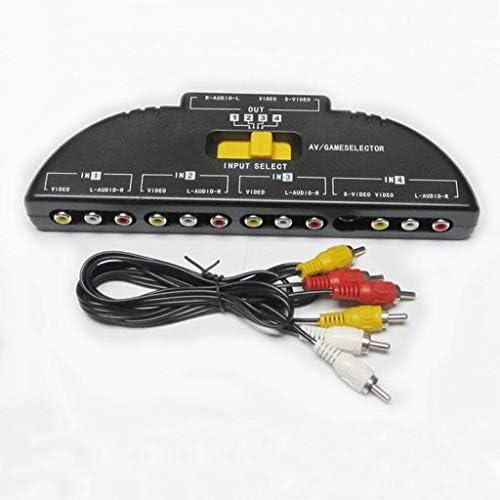 1st market 1個のオーディオビデオスイッチャー4ウェイポートRCAオーディオおよびビデオコンポジットディストリビューター