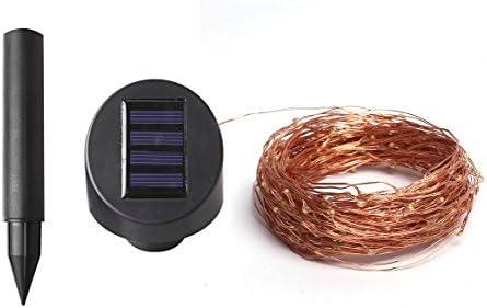 Solarbuy24 Guirnalda de luces por energía solar para exterior, jardín o interior, con alambre de cobre 200, resistente al agua, de 23 m, color blanco cálido: Amazon.es: Iluminación
