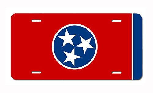 U.S. State Flag Front Plate License / Vanity Plate – Made in the U.S.A. (Tennessee)