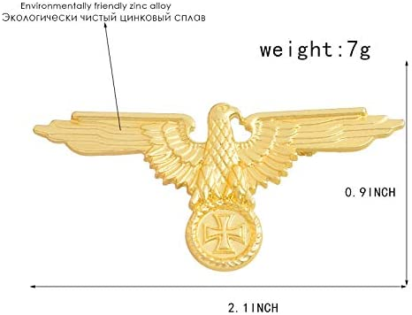 Metal Color: Gold Gold and Silver WWII WW2 German Military Cross Eagle Pin Cap Badge Cockade Harva Brooches