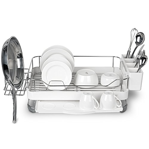 Wide Kitchen Sinkware Dish Rack, Dish Drying rack, Stainless Steel, Large