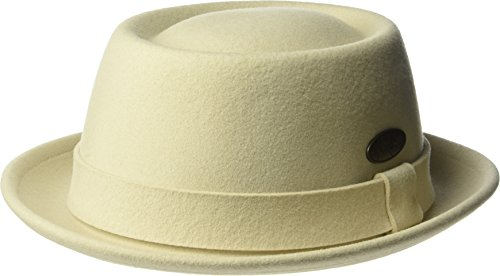 Kangol Unisex-Adult's Lite Felt Pork Pie Hat, Sand, S
