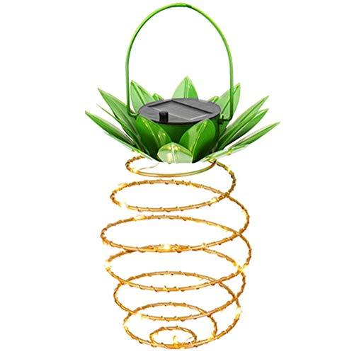 Adecorty Hanging Solar Lanterns, Pineapple Solar Garden Lights 1 Pack 30 LED Solar Lights Outdoor Decor Pineapple Fairy Lights Solar Path Lights, Waterproof Solar Light String for Garden Home Decor