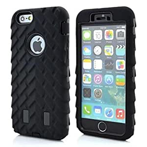PEACH ships in 48 hours Tyre Tread Pattern Silicone Double Shells Design Case for iPhone6 Plus (Assorted Colors) , Rose