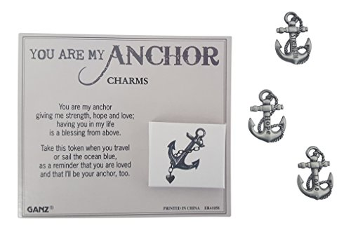 (Ganzz You are My Anchor Wish Box Charm Pocket Token with Story Card ~ Strength, Hope,)
