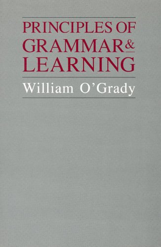 Principles of Grammar and Learning