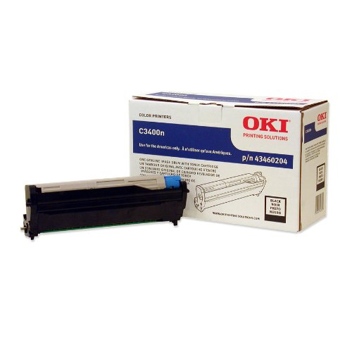 Oki Data 43460204 Black Image Drum with Toner Cart for C3400 Series - Black Drum Okidata 43460204
