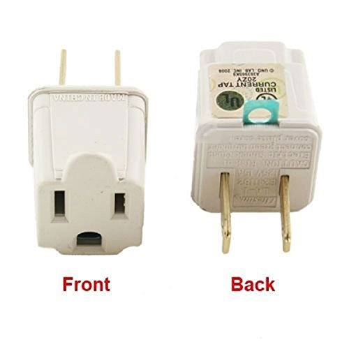 3 Prong To 2 Prong Outlet Electrical Ground Ac Adapter Grounding Converter Beige For Wall Outlets Plugs Electrical Household Workshops Industrial Brand - Do Polarized What Does