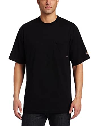 Dickies Men's Big-Tall Short Sleeve Pocket T-Shirt With Wicking, Black, Large/Tall